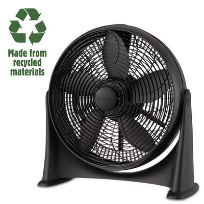 Holmes Whole Room Air Circulator: -Sourced from 100% recycled material -Cycles air throughout an entire bedroom with ease  http://www.holmesproducts.com/fans/holmes--100-recycled-20-inch-whole-room-air-circulator/HFF2014CR-BM.html?gclid=CjwKEAjw4s2wBRDSnr2jwZenlkgSJABvFcwQMDdpBFE98bKbvub8YRR9BfkNdLVydVS8KR5obq2A7BoC8nbw_wcB&kwid=productads-plaid^76247537170-sku^HFF2014CR@ADL4BM-adType^PLA-device^c-adid^55532498890