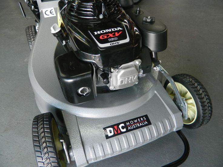 lawnmower  propelled dmc   hp honda engine alloy body mulching dmc lawn mowers