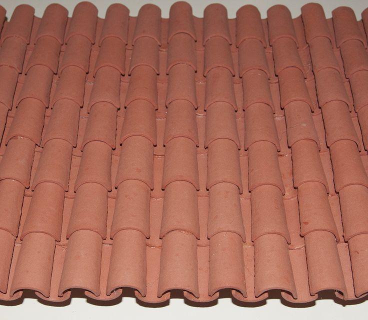 Como fabrico y monto las tejas árabes de poliestireno extruido.   Debido al peso de las tejas de barro, entre 6 y 8 gramos cada teja y ...