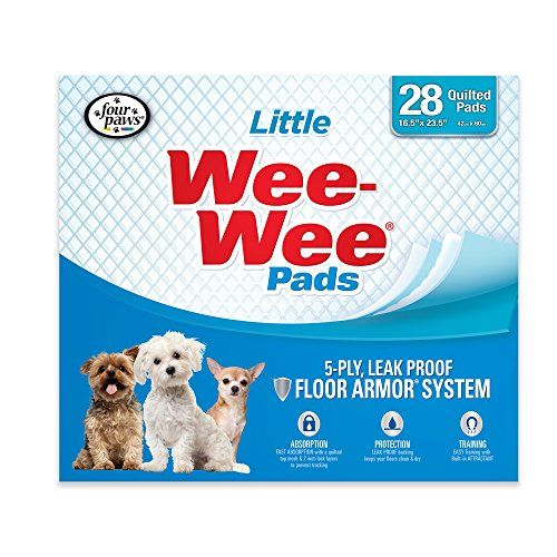 Four Paws Wee-Wee Small Dog Training Pads, 28-Pack - Our Four Paws Wee-Wee Small Dog Training Pads provide worry-free dog potty training when nature calls! Dog training pads are a convenient alternative to outdoor relief, especially with these easy-to-dispense training pads. Whether you're accommodating your puppy, adult, or senior dog, our Wee-Wee...