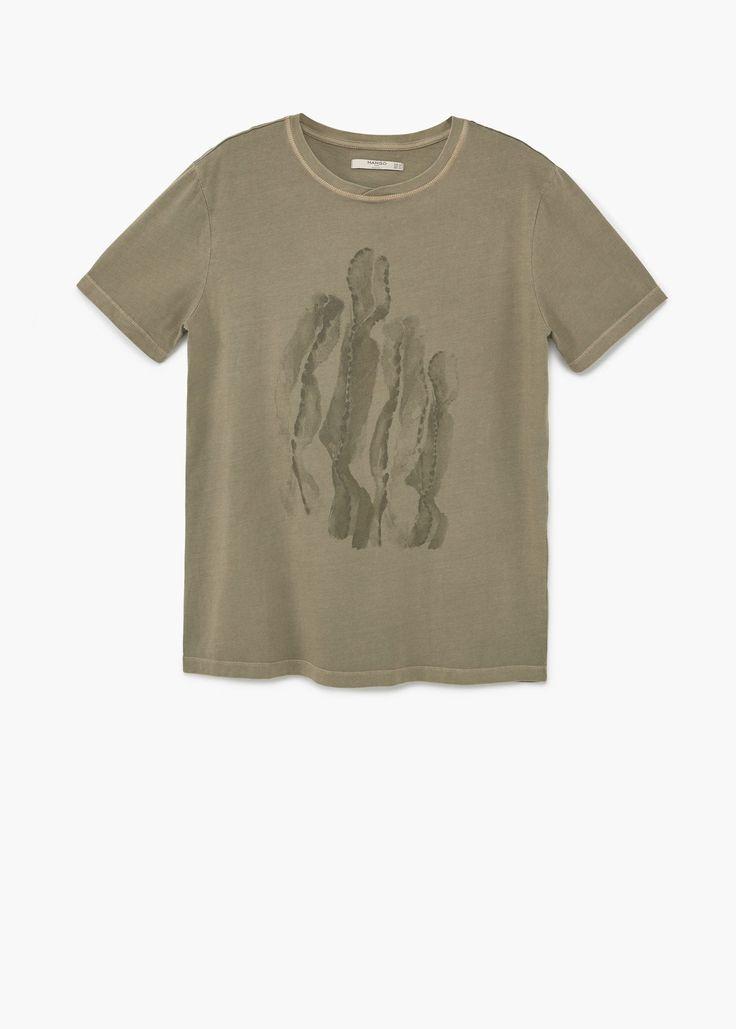 T-shirt en coton imprimé - Homme | MANGO Man France