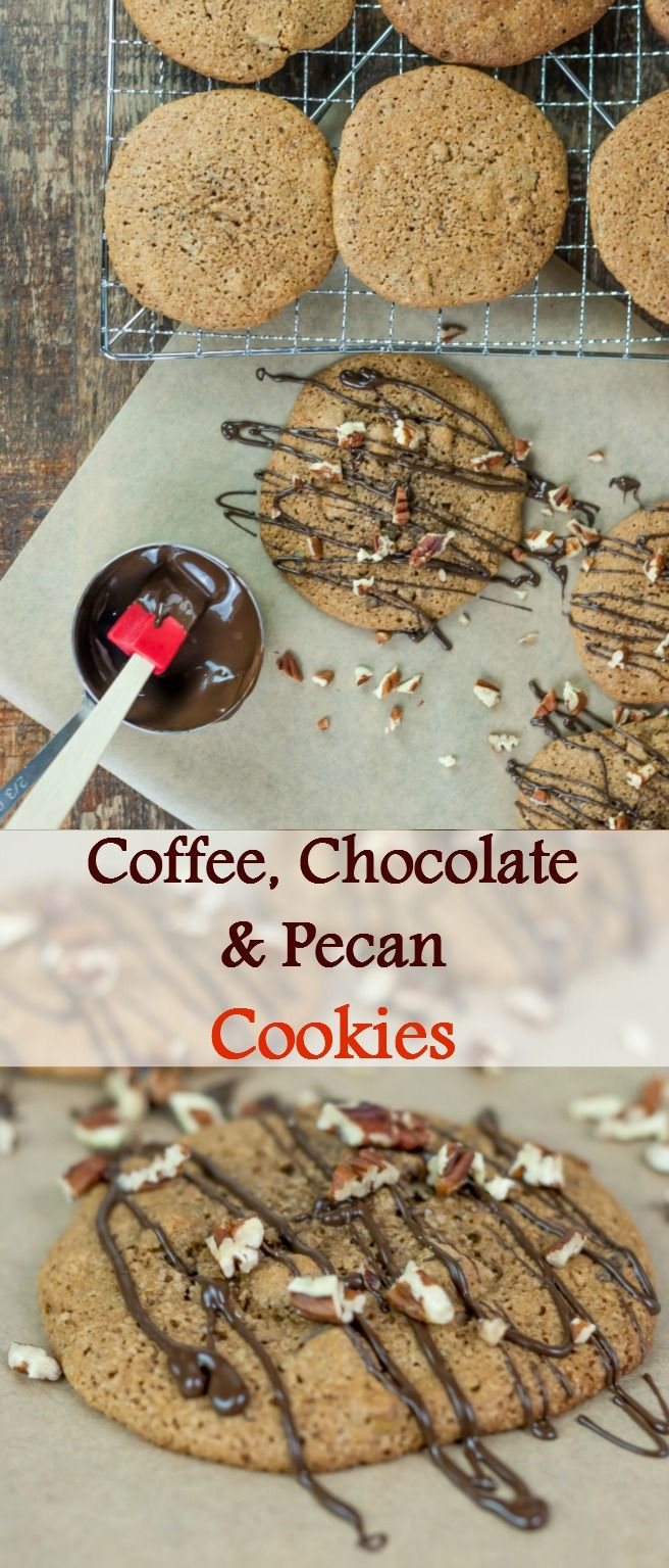 Coffee, Chocolate & Pecan Cookies