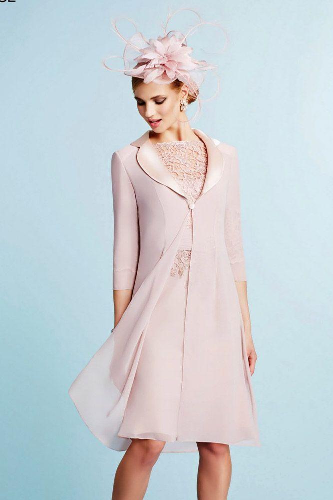 Ronald Joyce 991018 Lace Appliqu_ Dress with Chiffon Coat in Aqua & Lilac