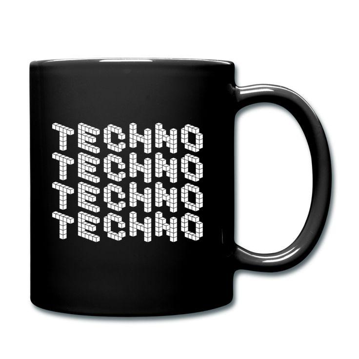 TECHNO SHIRT / CLUBWEAR - Tasse einfarbig