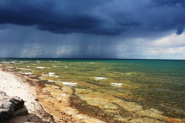 Storm Brewing over Lake Huron, Michigan.  Spent a lot of time on that lake in rough weather when I was in the CG ... loved it!!!