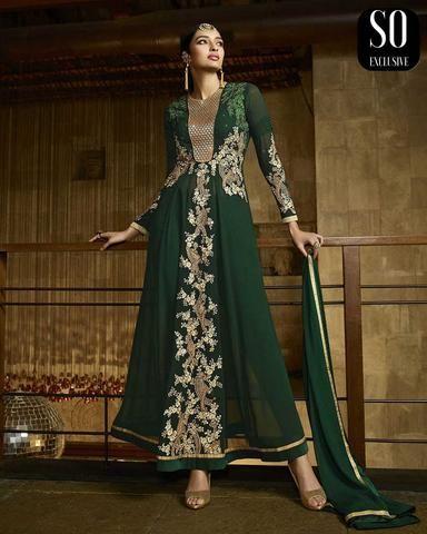 Salwar Pakistanais Vert Foncé Reyna