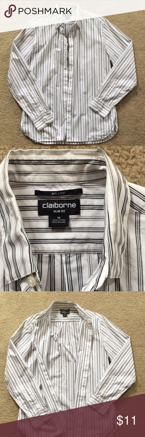 Liz Claiborne long sleeve men's button-down Liz Claiborne long sleeve men's button-down Liz Claiborne Shirts Casual Button Down Shirts