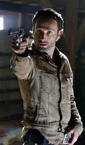 Rick Grimes meeting face to face with governor, season 3 one of my favorite seasons. intense