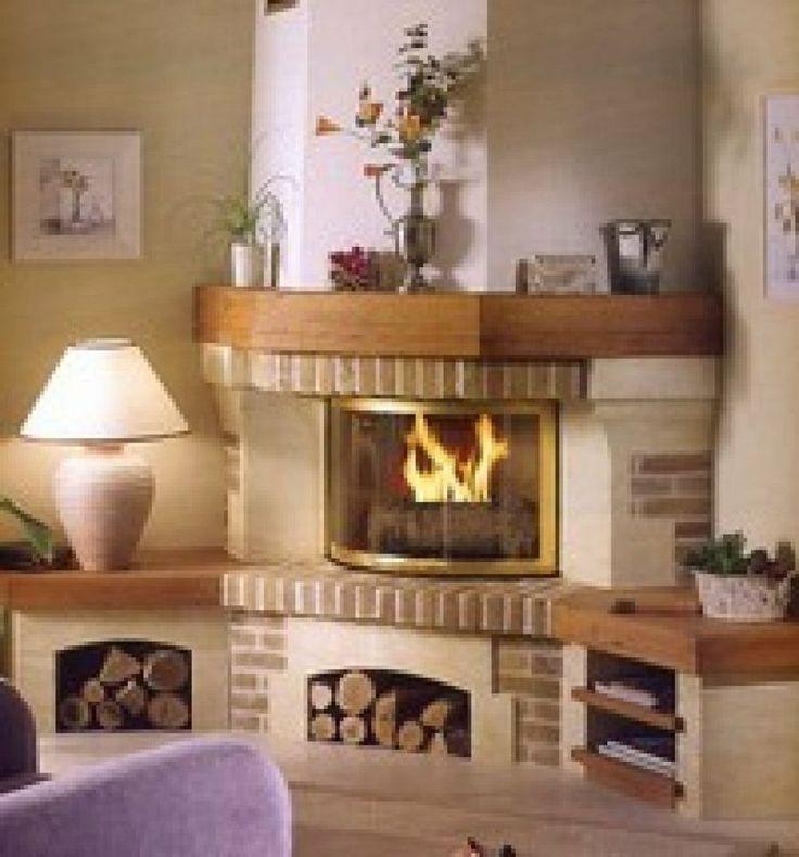 17 mejores ideas sobre decoraci n de chimenea de esquina - Ver chimeneas rusticas ...