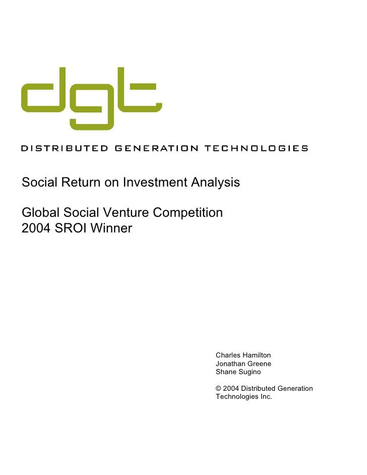 Social Return on Investment Analysis -- from a crazy business idea - investment analysis