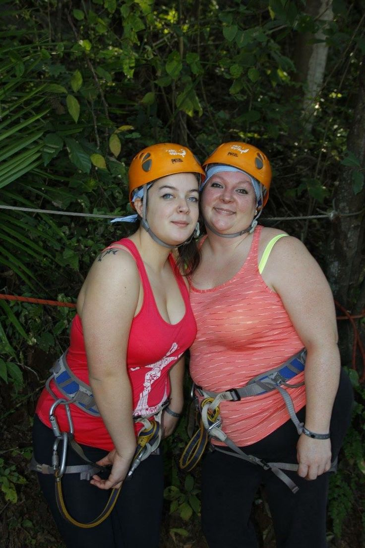 Mother and daughter time. She did so well for her first time zip lining. What an amazing adventure we had together.