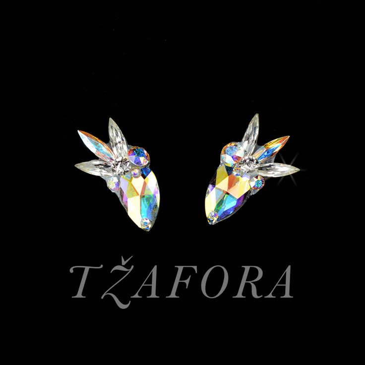 """Swivel Sizzle"" - Swarovski ballroom earrings. Ballroom dance jewelry, ballroom dance dancesport accessories. www.tzafora.com Copyright ©️️️️️️️ 2017 Tzafora."