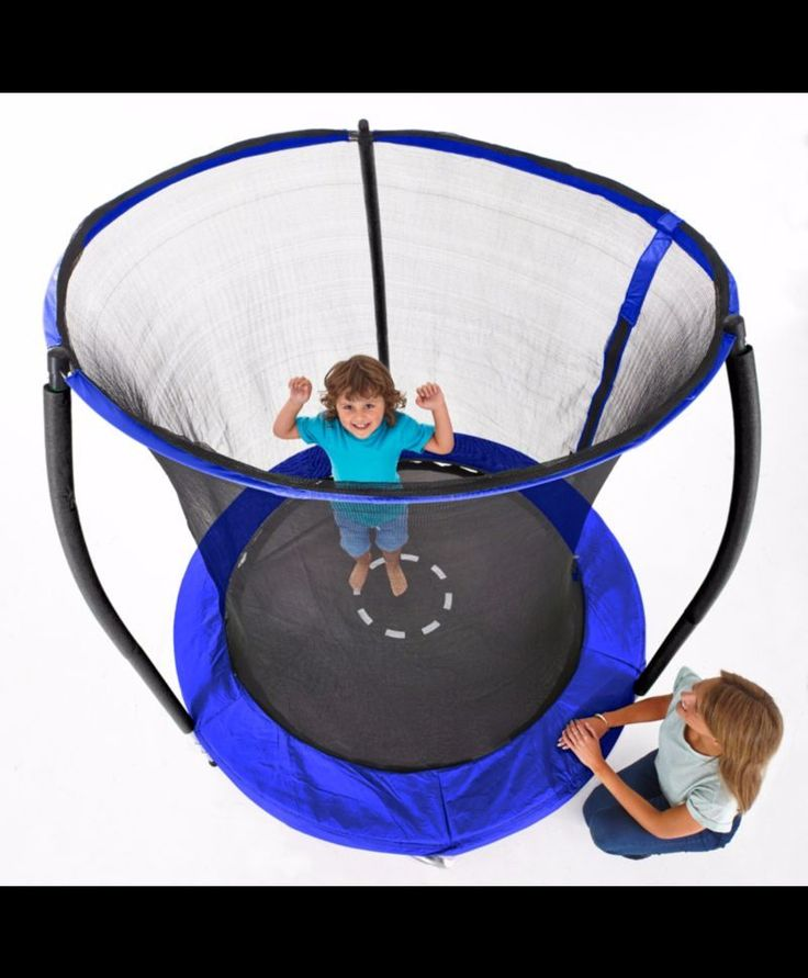 Sportspower 6 ft Galvanised Trampoline with Enclosure Blue Sky Ring outdoor L@@k