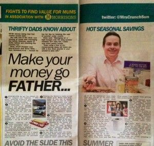 My first feature in The Sun newspaper | skintdad.co.uk
