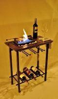 Chimenea Bar, Licorera y porta copas. En un pequeño diseño se integra un gran mueble. athosmuebles.com