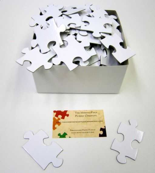 www.themissingpiecepuzzlecompany.com NUMBERED White Puzzle that will be 16x20 when completed.  Just $30.