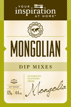 Mongolian Dip Mix  Blend of exotic five spice with herbs and spices. Perfect blended in mayonnaise as a condiment with duck, lamb, chicken, pork or beef. Sprinkle over grilled vegetables or brush on kabobs before grilling. To purchase go to www.sharonking.yourinspirationathome.com.au