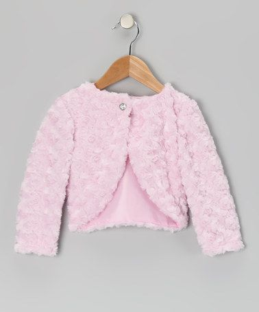 Take a look at this Pink Faux Fur Bolero - Infant, Toddler & Girls by Kid Fashion on #zulily today!
