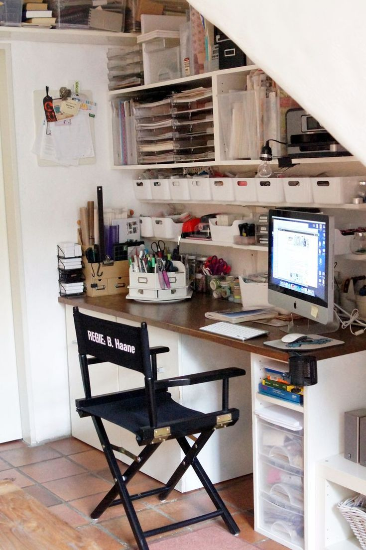 This is the best organized space I think I've seen.....  more pics on her blog  http://scrap-impulse.typepad.com