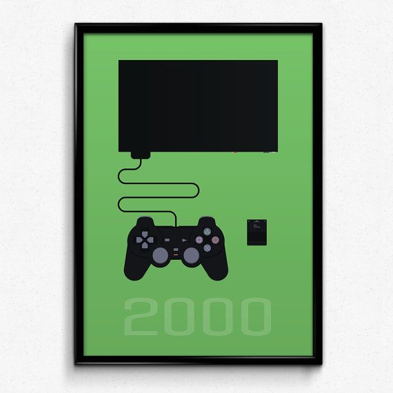 PlayStation Inspired Minimalist PlayStation 2 by PrinsDesignStudio