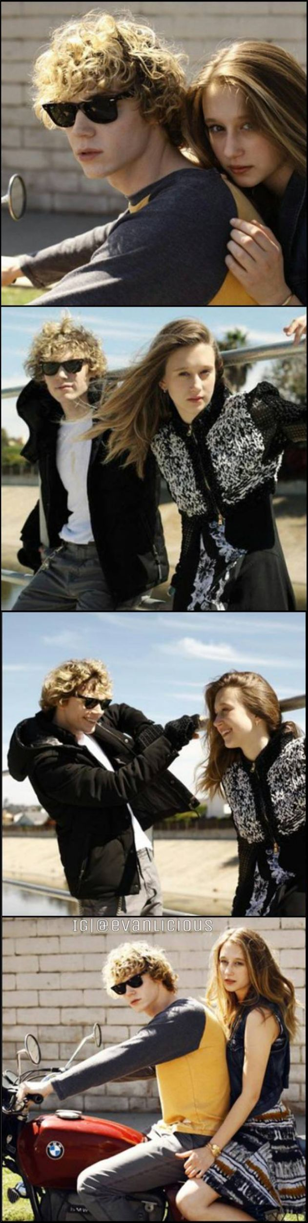 Rare, unedited pics of Evan Peters and Taissa Farmiga. Tate and Violet Forever! Like and save if you agree.