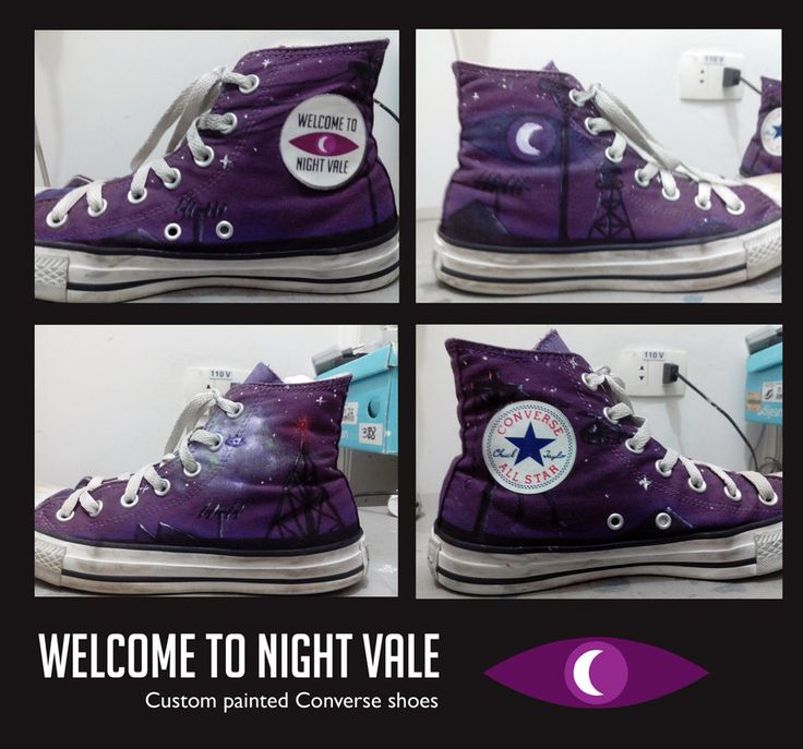 Night Vale Converse Shoes [custom painted] by elveleven.deviant... on @deviantART