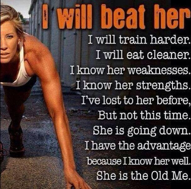 That's what I love about running!   Everyday of running is a chance to beat the old you of yesterday!
