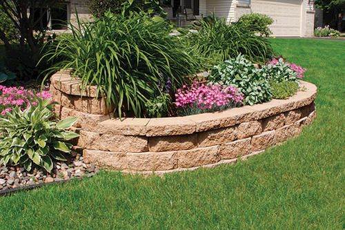 Menards Landscaping Bushes : Quot breckenridge retaining block  backyard