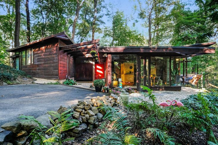On the market for only the second time, the Anderson House in Pleasantville, New York, was built in 1950 as part of the iconic architect's idyllic Usonia community. #realestate #forsale