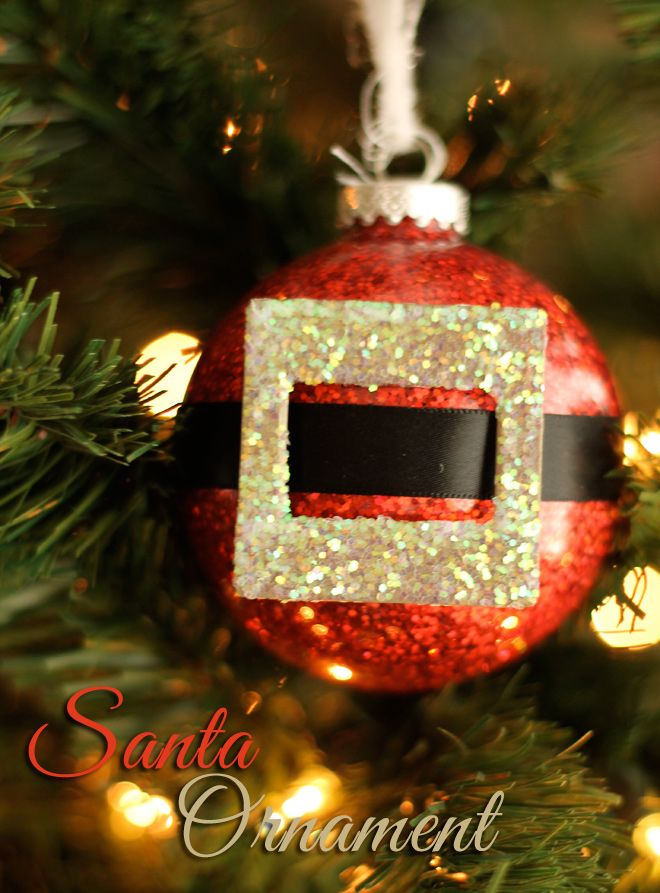 Easy Handmade Santa Christmas Ornament Tutorial