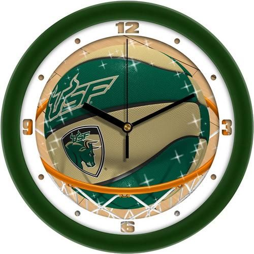 South Florida USF Bulls Basketball Wall Clock