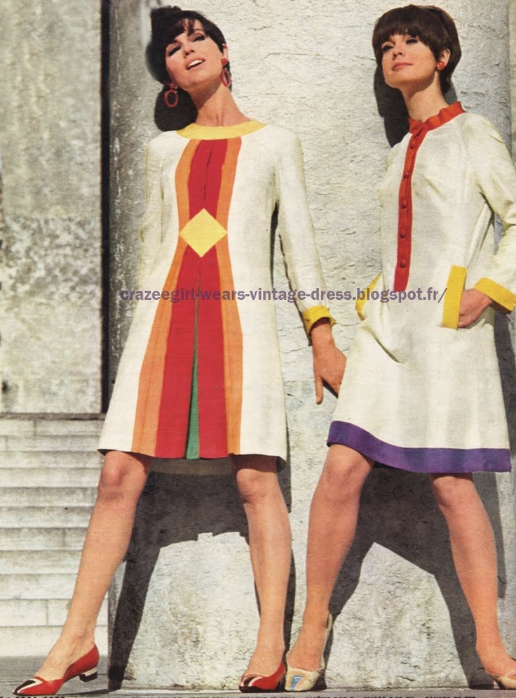 : 1966 dress - Pierre d'Alby - Anne Marie - Dorothée Bis - Charles Jourdan -