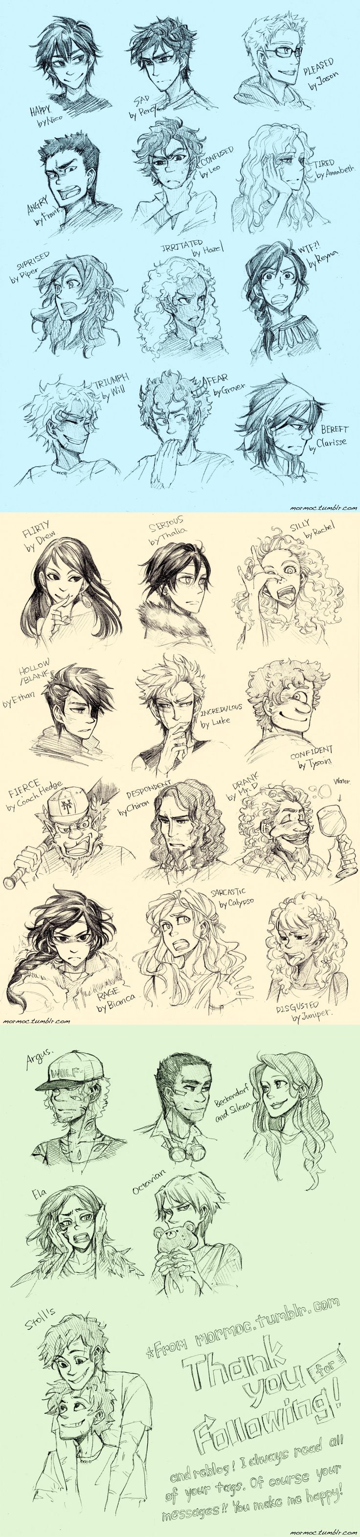 I love all characters of pjo/hoo. They are full of emotions. I tried to image that… Which one do you like?