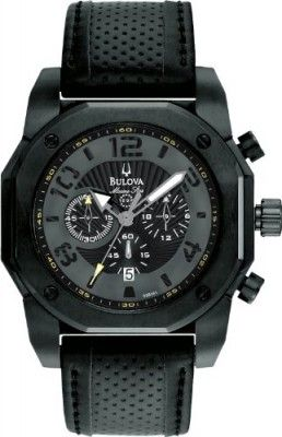 Relógio Bulova 98B151 Mens Marine Star Chronograph Black Watch
