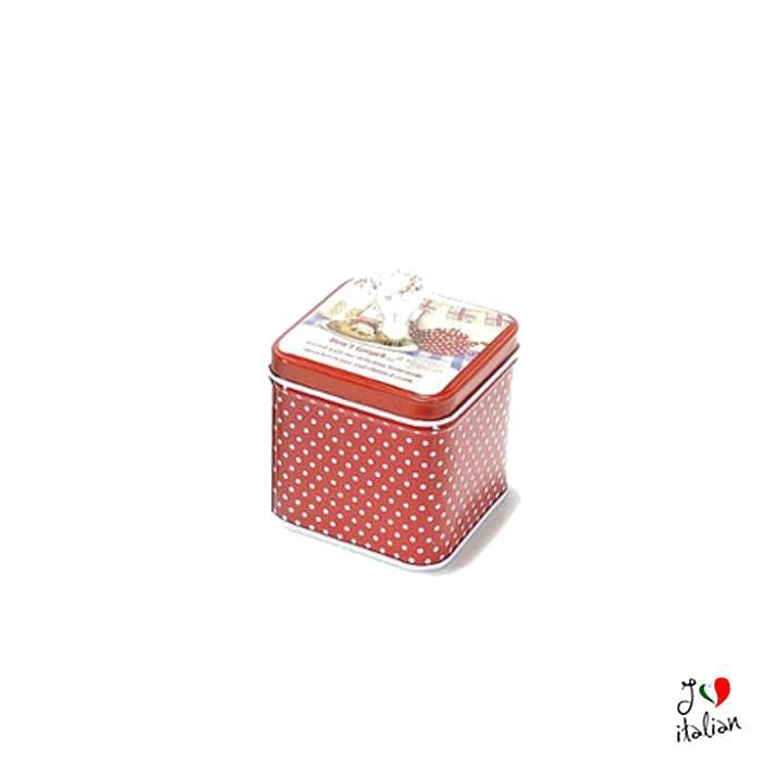 Small Red metal container with cap - Kitchen - €5.90