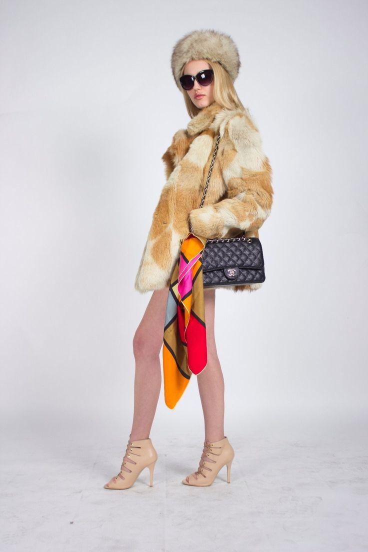 Vintage Ginger Rabbit Gewaschener Fur Coat ( Ex-displayed fashion show item ) | eBay
