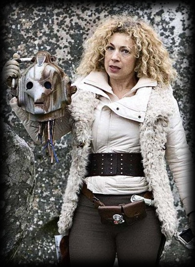 Alec Kingston as the ass-kicking Historian character River Song in Dr Who.