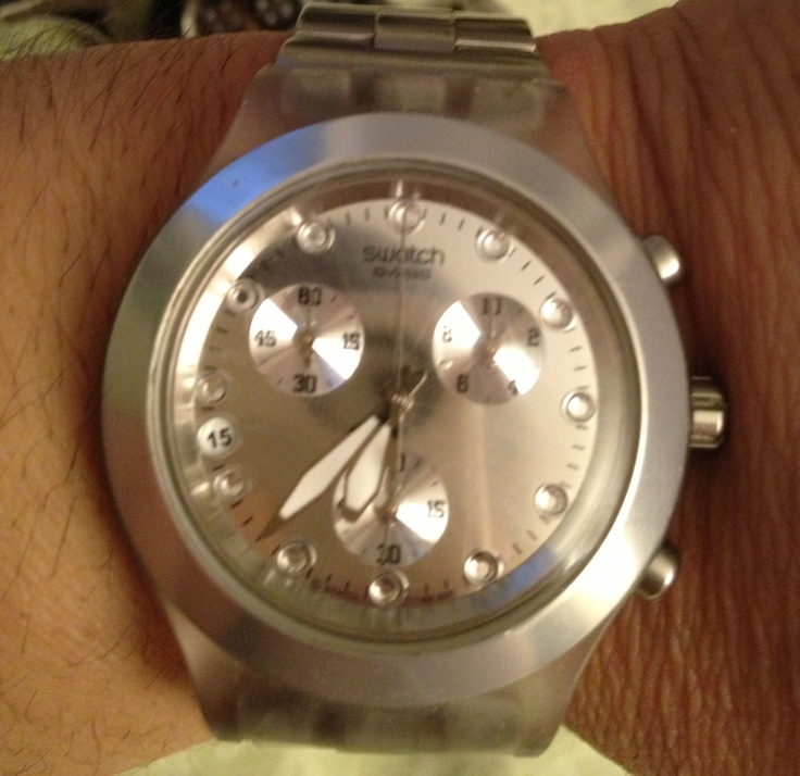Silver FullBlooded Swatch watch
