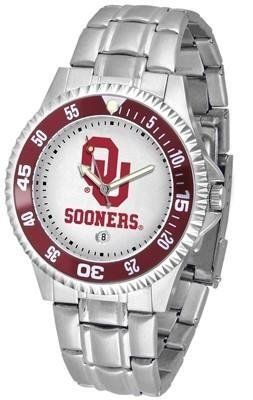 Oklahoma Competitor Men's Steel Band Watch by SunTime. $76.95. Men. Rotating Bezel. Links Make Watch Adjustable. Officially Licensed Oklahoma Sooners Men's Stainless Steel Watch. Stainless Steel. Showcase the hottest design in watches today! The functional rotating bezel is color-coordinated to compliment your favorite team logo. The Competitor Steel utilizes an attractive and secure stainless steel band.. Save 24%!