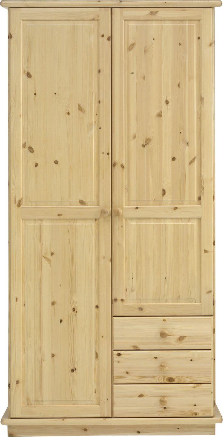 Fresh ROMO Kleiderschrank Kiefer massiv inkl F e Kiefer cm lackiert mit Spiegel Jetzt bestellen