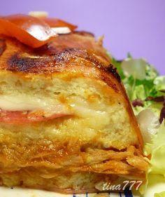 Pastel salado de pan de molde