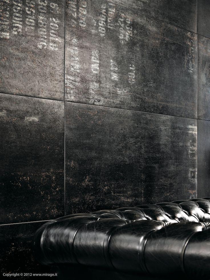 Black wall and sofa