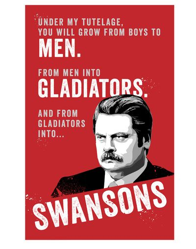ron swanson pyramid of greatness poster pdf