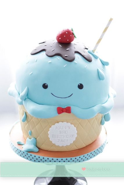 One cute Ice cream cake by Bake-a-boo Cakes NZ, via Flickr