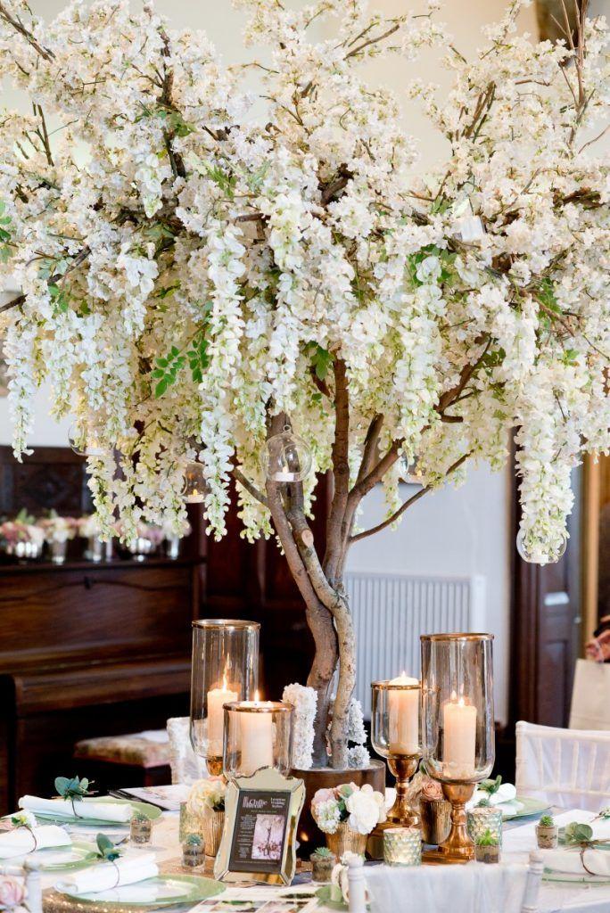 Image Associee Blossom Tree Wedding Wedding Tree Decorations Tree Wedding Centerpieces