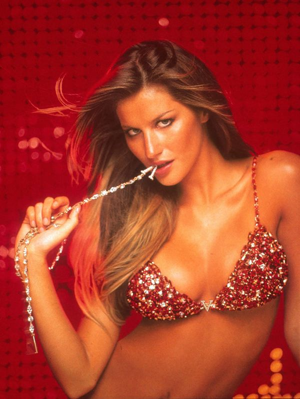 """The most expensive clothes – """"The Red Hot Fantasy Bra"""" from Victoria's Secret is estimated at 15 million USD. Bras Briefs hit the Guinness Book of Records as the most expensive we've ever had. The most expensive lingerie is made from softest satin and decorated with stones, including three-hundred-carat rubies, diamonds belted straps."""