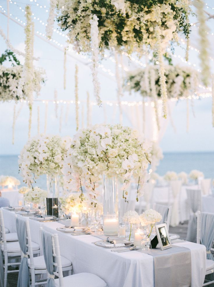 long table setup wedding reception%0A Waterside Wedding