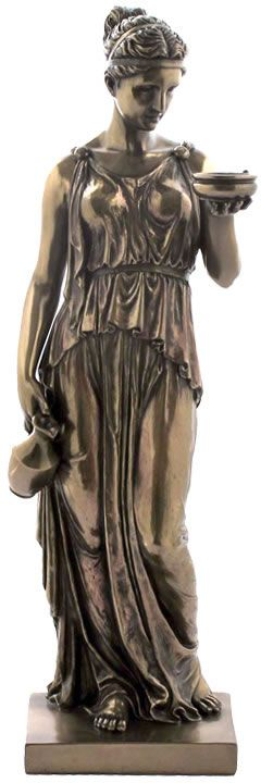 Hebe Goddess of Youth Statue Sculpture Figurine from the Greek and Roman Reproduction Art Sculpture Collection available at AllSculptures.com