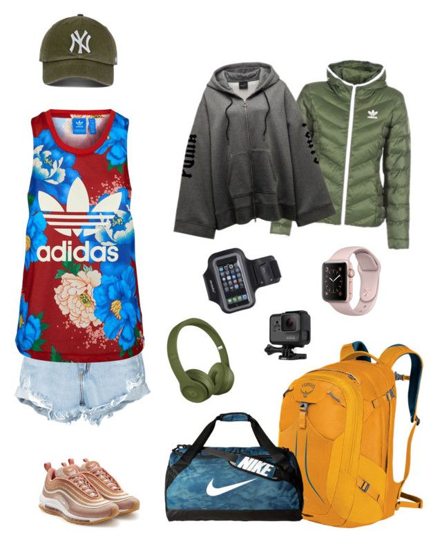 """""""Sport"""" by mistcho on Polyvore featuring moda, Osprey, Nobody Denim, adidas Originals, NIKE, GoPro, Marika y adidas"""
