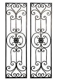 Diangelo Tuscan Mediterranean Wrought Iron Wall Grille Set | eBay